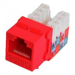 Jack modular para Toma Rj45 90 Cat 5e Quest Rojo