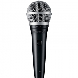 Micrófono Shure PGA48 rechaza el ruido 70Hz –15kHz