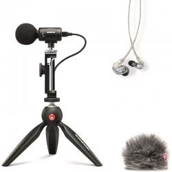Kit de videografía portátil Shure MV88 + SE215