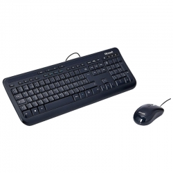 Combo Teclado y mouse Microsoft Wired 600 USB