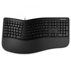 Teclado Microsoft Ergonomi USB Español - Negro